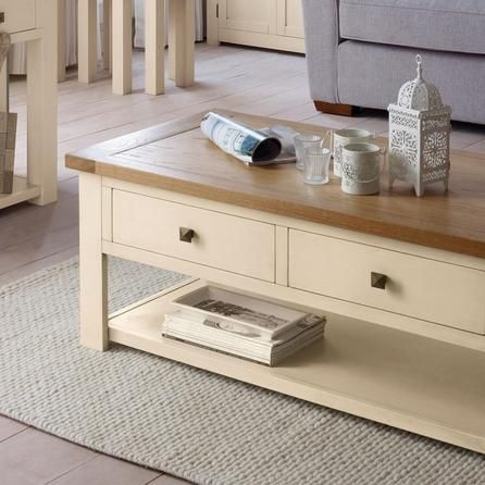 Brilliant Unique Cream And Oak Coffee Tables With Henley Cream Coffee Table Dunelm Forever Home Board (Image 11 of 40)
