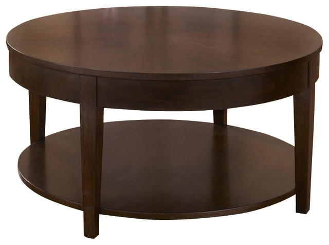 Brilliant Unique Dark Wood Round Coffee Tables With Design Of Round Wood Coffee Tables Round Wooden Coffee Table (Image 15 of 50)