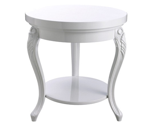Brilliant Unique French White Coffee Tables With White Round Coffee Table (Image 16 of 50)