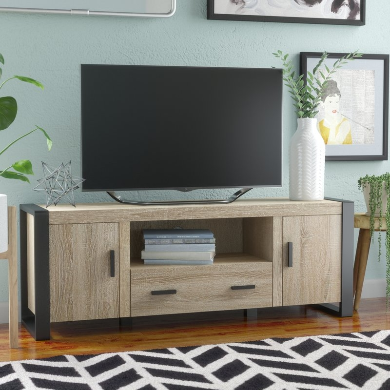 Brilliant Unique Industrial Corner TV Stands Inside Extra Tall Tv Stands Wayfair (Image 16 of 50)