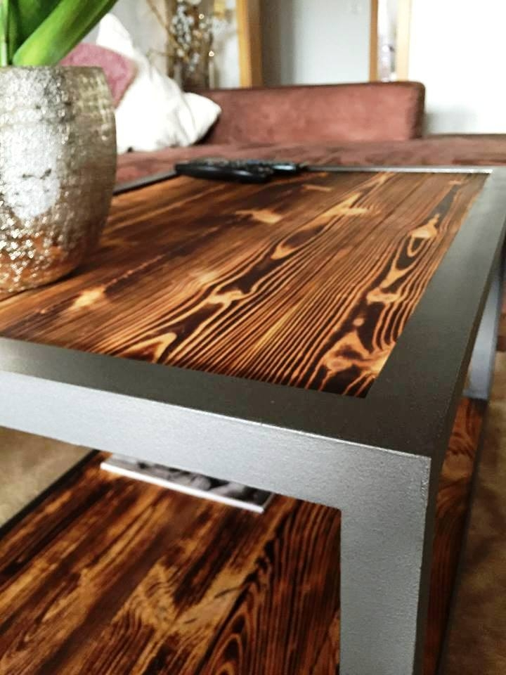 Brilliant Unique Industrial Style Coffee Tables Intended For Industrial Style Pallet Wood Coffee Table 99 Pallets (Image 13 of 50)