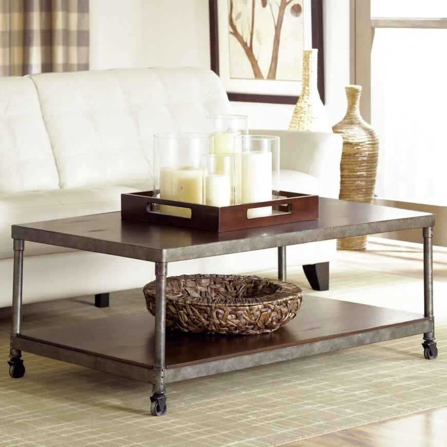 Brilliant Unique Low Industrial Coffee Tables Pertaining To Living Room Coffee Table Coffee Tables You Ll Love Wayfair Lift (Image 9 of 40)