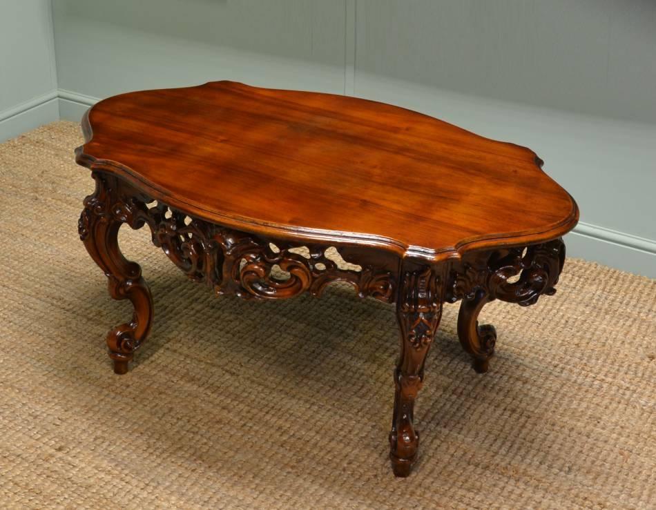 Brilliant Unique Mahogany Coffee Tables Regarding Victorian Coffee Table (Image 9 of 50)