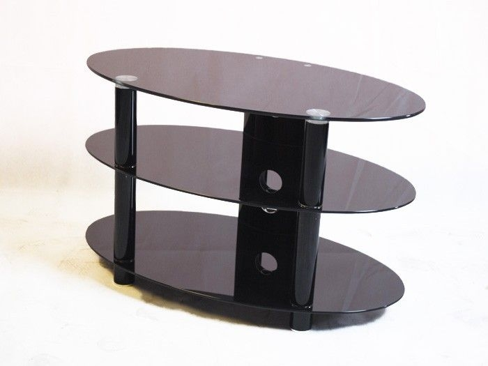 Brilliant Unique Oval Glass TV Stands With 61 Best Black Glass Tv Stands Images On Pinterest Cable (Image 11 of 50)