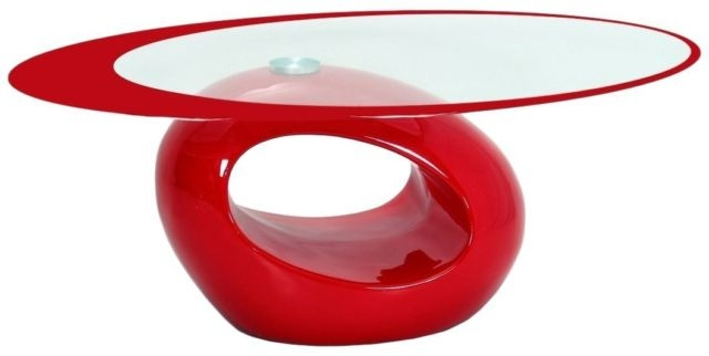 Brilliant Unique Oval Shaped Glass Coffee Tables Throughout Fab Glass And Mirror Stylish Oval Shape Coffee Table Red Ebay (Image 14 of 50)