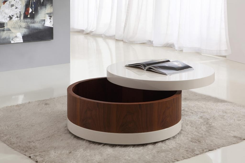 Brilliant Unique Round Coffee Tables With Storages Within Round Storage Table (Image 15 of 50)