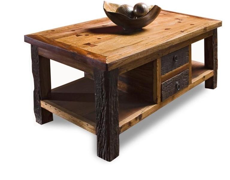 Brilliant Unique Rustic Coffee Table With Wheels Intended For Astonishing Rustic Coffee Table With Wheels Design (Image 12 of 50)