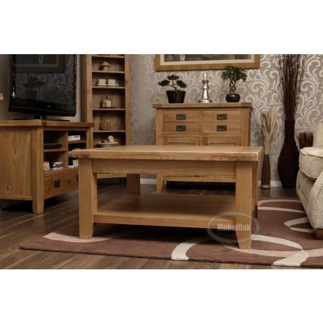 Brilliant Unique Square Oak Coffee Tables In Vancoouver Rustic Oak Large Square Coffee Table Best Price Guarantee (Image 9 of 50)
