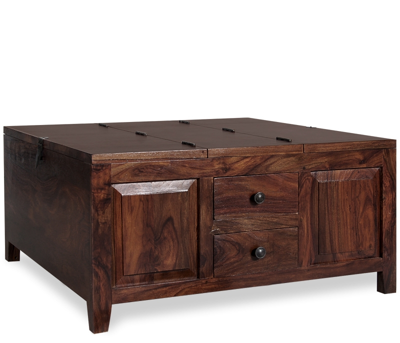 Brilliant Unique Square Wood Coffee Tables With Storage Pertaining To Brilliant Square Coffee Tables With Storage Brown Espresso Wood (View 7 of 50)