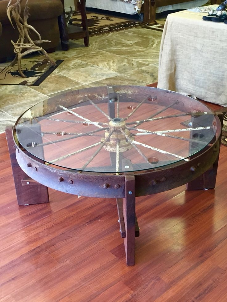 Brilliant Unique Wheels Coffee Tables Pertaining To Top 25 Best Wagon Wheel Table Ideas On Pinterest Wagon Wheel (View 43 of 50)
