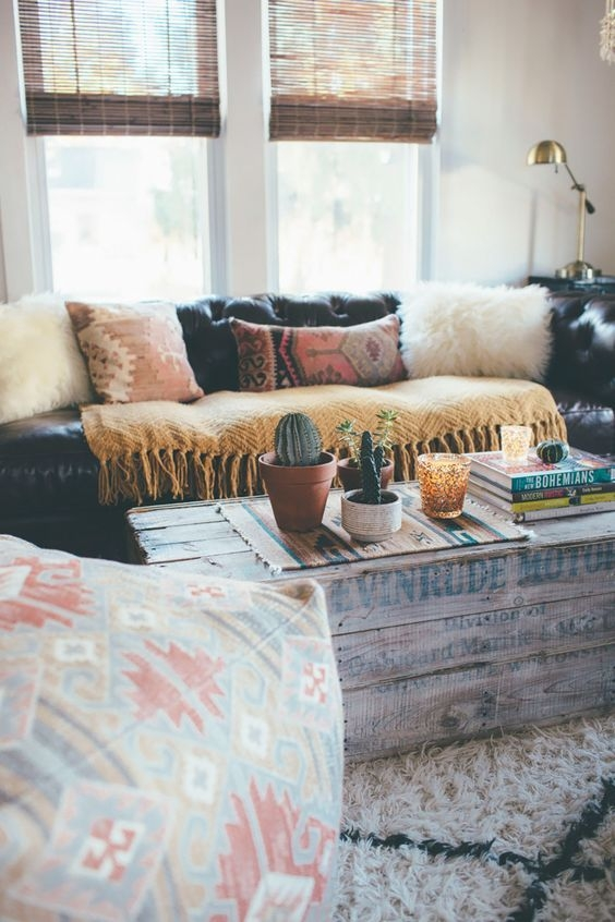 Brilliant Variety Of Boho Coffee Tables Throughout Best 25 Boho Living Room Ideas On Pinterest Bohemian Apartment (View 20 of 50)