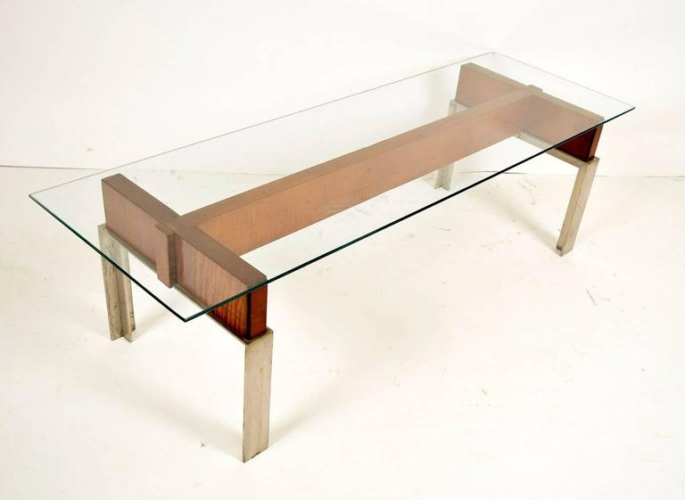 Brilliant Variety Of Chrome And Wood Coffee Tables With Mid Century Modern Chrome And Wood Coffee Table For Sale At 1stdibs (Image 8 of 50)