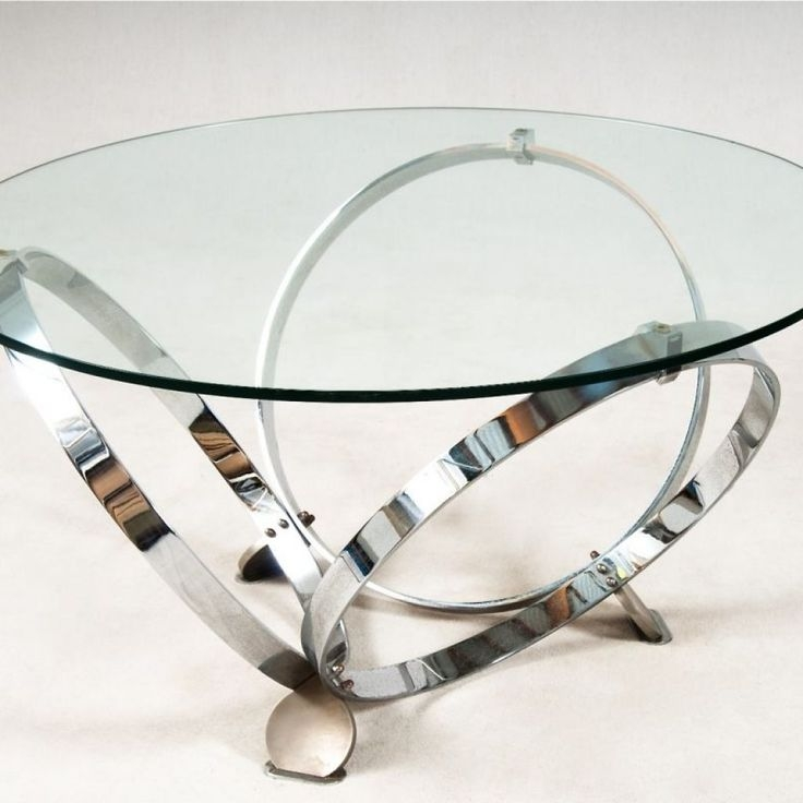 Brilliant Variety Of Chrome Glass Coffee Tables For Best 25 Round Glass Coffee Table Ideas On Pinterest Ikea Glass (Image 14 of 50)