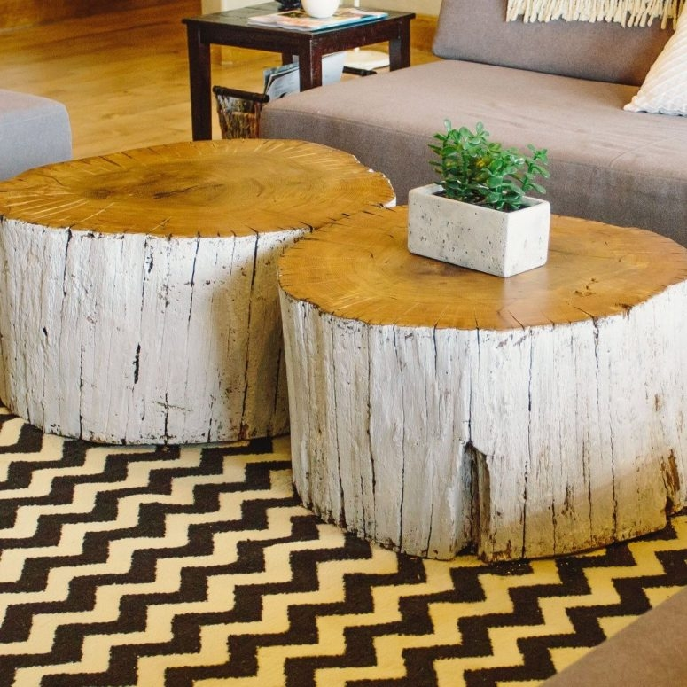 Brilliant Variety Of Coffee Tables With Rounded Corners Regarding Storage Trunk Coffee Table One Drawer And One Door Creamy Oak (View 37 of 50)