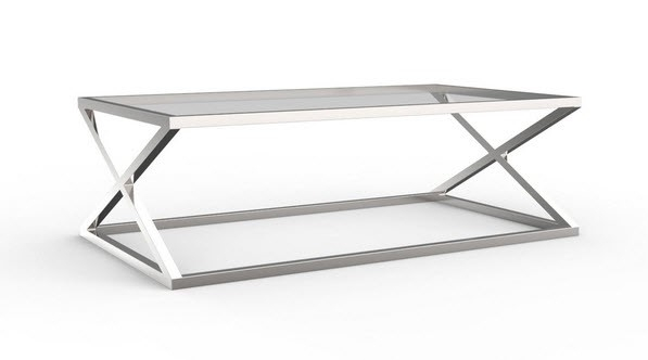 Brilliant Variety Of Glass Chrome Coffee Tables With Regard To Furniture Cool Glass Chrome Coffee Table Designs Contemporary (Image 11 of 40)