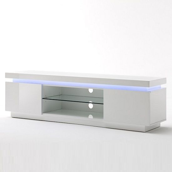 Brilliant Variety Of Glossy White TV Stands With Best 25 Led Tv Stand Ideas On Pinterest Floating Tv Unit Wall (Image 9 of 50)