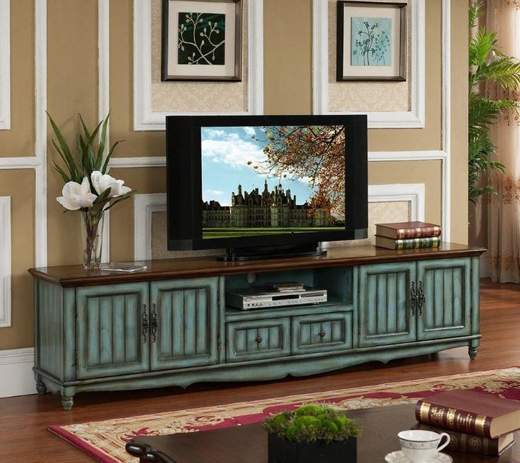 Brilliant Variety Of Green TV Stands For Tv Stands Distressed Wood Tv Stand And Cabinets Contemporary (Image 9 of 50)