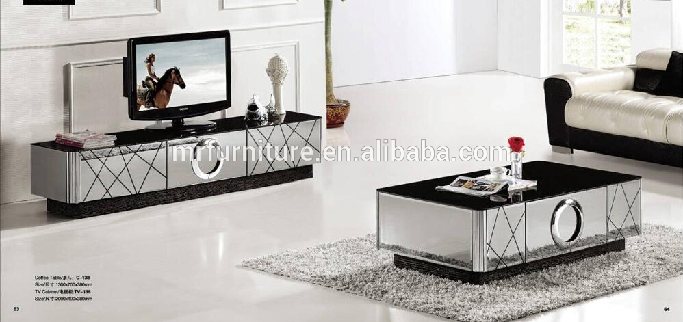 Brilliant Variety Of Mirrored TV Stands In Modern Black And Silver Mirrored Tv Stand Buy Unique Mirrored Tv (View 15 of 50)