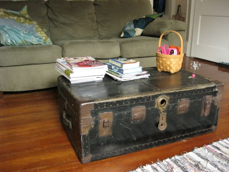 Brilliant Variety Of Old Trunks As Coffee Tables Intended For 35 Best Military Trunk Images On Pinterest Trunks Trunk Coffee (Image 10 of 50)