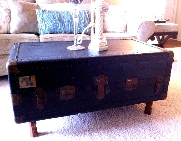 Brilliant Variety Of Old Trunks As Coffee Tables Pertaining To 41 Best Steamer Trunk Projects Images On Pinterest Steamer Trunk (Image 11 of 50)