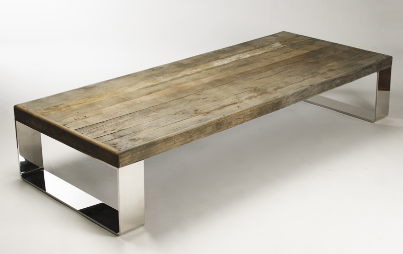 Brilliant Variety Of Reclaimed Wood And Glass Coffee Tables Pertaining To Reclaimed Wood Coffee Table Ideas (View 4 of 50)