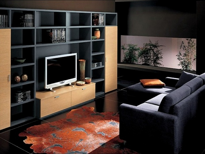 Brilliant Variety Of Small Black TV Cabinets Pertaining To Small Tv Room Ideas With Black Brown Tv Cabinet Decolover (Image 15 of 50)