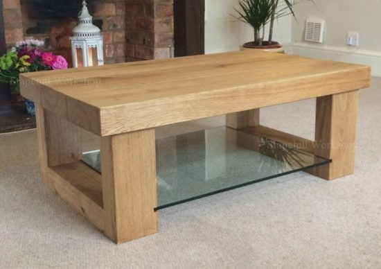 Brilliant Variety Of Solid Oak Coffee Tables Within Brilliant Chunky Oak Coffee Table With Regard To Your House My (View 11 of 50)