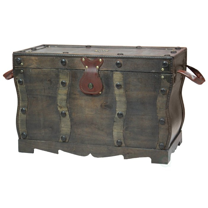 Brilliant Variety Of Trunk Chest Coffee Tables Regarding Bloomsbury Market Flynn Antique Style Distressed Wooden Pirate (View 18 of 50)
