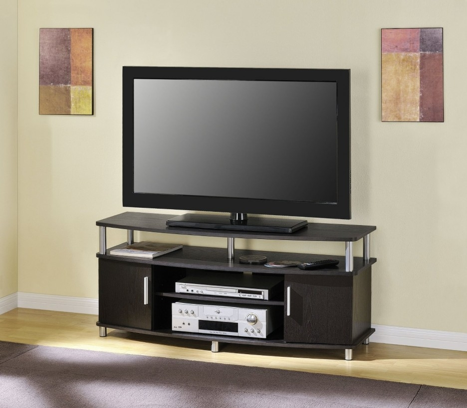 Brilliant Variety Of TV Stands And Cabinets With Exciting Small Tv Stand With Modern Styling Look Having Hardwood (View 25 of 50)