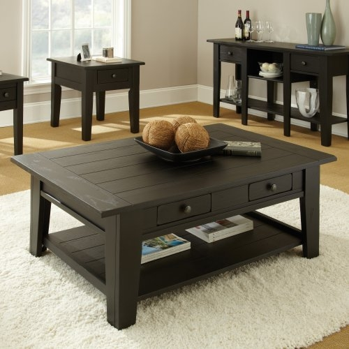 Brilliant Well Known Black Wood Coffee Tables Within Secrets Behind Black Wood Coffee Table Furniture Depot (Image 11 of 40)