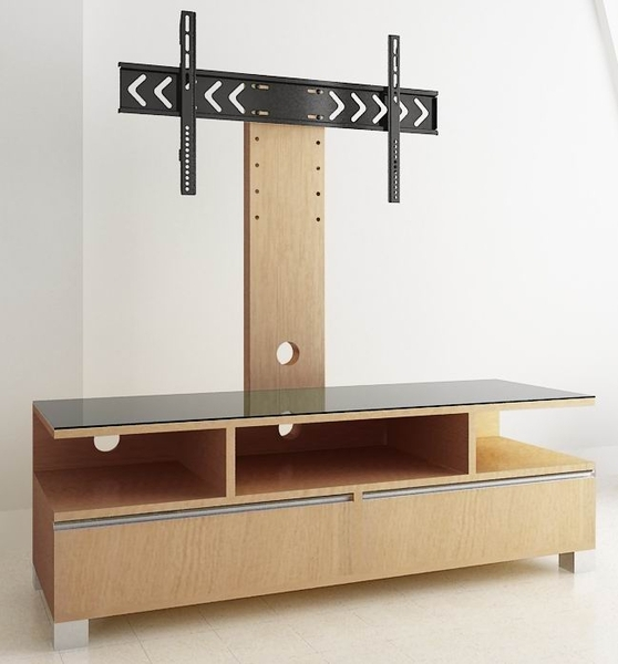 Brilliant Well Known Cantilever TV Stands Throughout Wooden Tv Stand With Cabinets And Shelves Tv Stand Wood (Image 11 of 50)