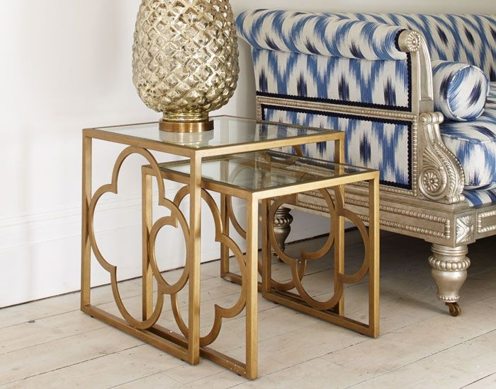 Brilliant Wellknown Coffee Tables And Side Table Sets Intended For Best 25 Gold Side Tables Ideas On Pinterest Gold Accents Gold (Image 14 of 50)