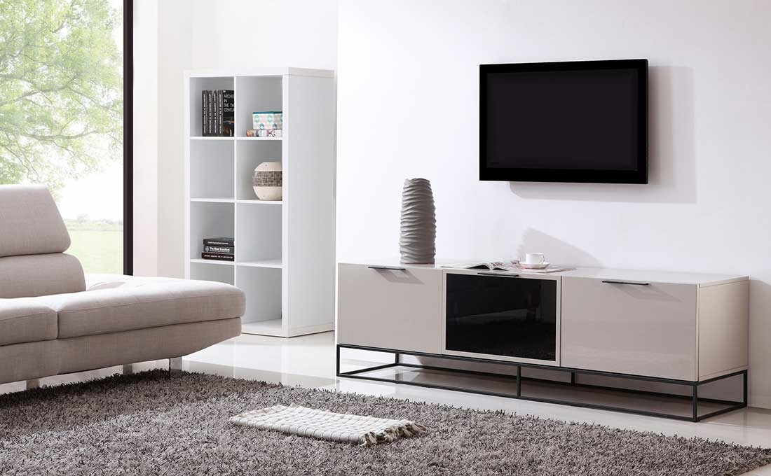Brilliant Well Known Cream Color TV Stands Intended For Modern Cream Black Tv Stand Bm35 Tv Stands (Image 16 of 50)