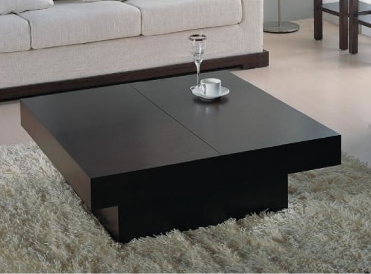 Brilliant Wellknown Dark Wood Square Coffee Tables Inside Plain Square Coffee Tables Black Style Table Intended Design Ideas (Image 11 of 50)