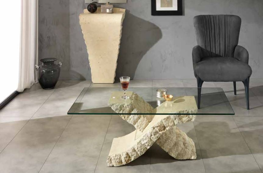 Brilliant Well Known Glass And Stone Coffee Table Regarding Imperia Stone Glass Coffee Table Stoxenoncoffee  (Image 11 of 50)