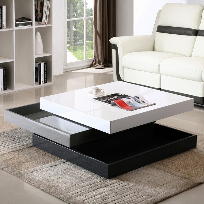 Brilliant Wellknown Gloss Coffee Tables For Jm Furniture Modern Coffee Table Cw01 In White High Gloss Grey (View 50 of 50)