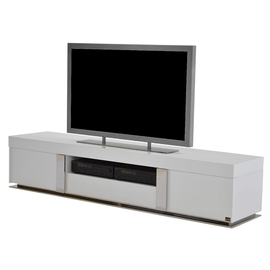 Brilliant Well Known Gloss TV Stands Inside Grand Night White Gloss Tv Stand El Dorado Furniture (Image 16 of 50)