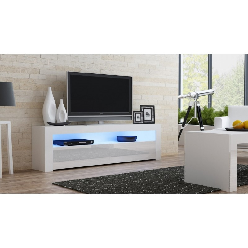 Brilliant Wellknown Gloss White TV Stands In White Gloss Tv Stand Milano 157 Concept Muebles (View 18 of 50)