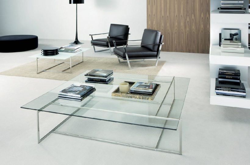 Brilliant Well Known Large Glass Coffee Tables For Living Room Curved Glass Coffee Tables Clean Design Interior (Image 11 of 50)