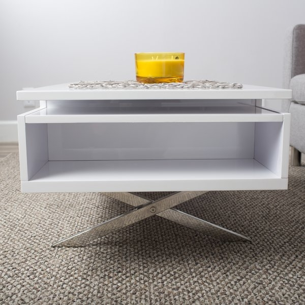 Brilliant Well Known Logan Lift Top Coffee Tables For Wade Logan Seraphina White Lift Top Rectangular Coffee Table (Image 12 of 50)