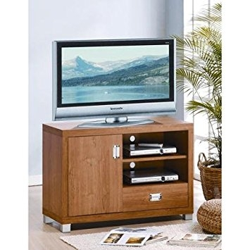 Brilliant Wellknown Maple TV Stands Intended For Amazon Techni Mobili Kodiak Maple Tv Stand With Drawer For (View 30 of 50)