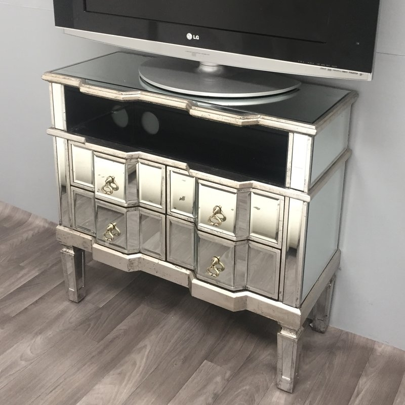 Brilliant Well Known Mirrored TV Stands Within Alterton Vintage Mirrored Range Tv Stand For Tvs Up To (View 23 of 50)