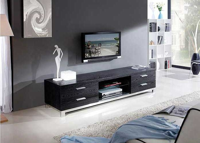 Brilliant Well Known Modern Black TV Stands Regarding Modern Black Tv Stand Bm3 Tv Stands (Image 12 of 50)