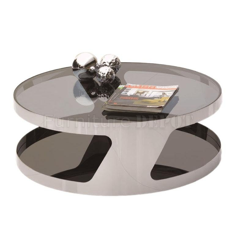 Brilliant Wellknown Modern Chrome Coffee Tables Within Round Modern Coffee Table (Image 11 of 40)
