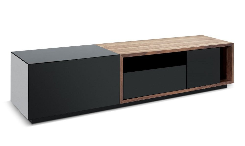 Brilliant Wellknown Modern Walnut TV Stands Within Jm Furniture Tv Stand 047 In Black High Gloss Walnut Beyond (Image 15 of 50)