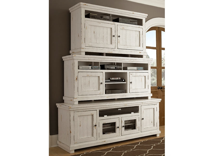Brilliant Well Known Rustic White TV Stands Pertaining To Tv Consoles (Image 17 of 50)