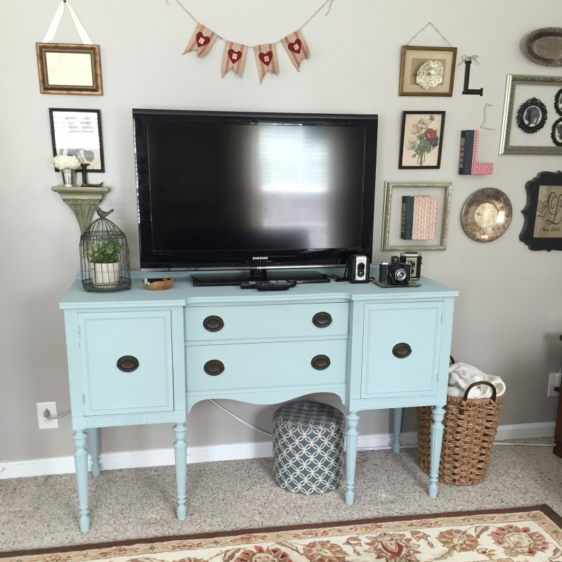 Brilliant Well Known Sideboard TV Stands With Regard To New Uses For Old Things Sideboard Tv Stand New England Nesters (View 9 of 50)
