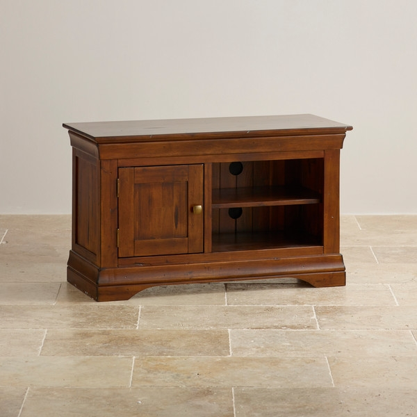 Brilliant Well Known Small TV Cabinets Throughout Small Solid Hardwood Acacia Tv Cabinet (View 37 of 50)