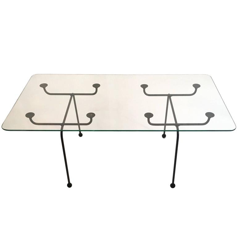 Brilliant Well Known Steel And Glass Coffee Tables With Clement Meadmore Steel Rod And Glass Coffee Table Melbourne Circa (Image 10 of 50)