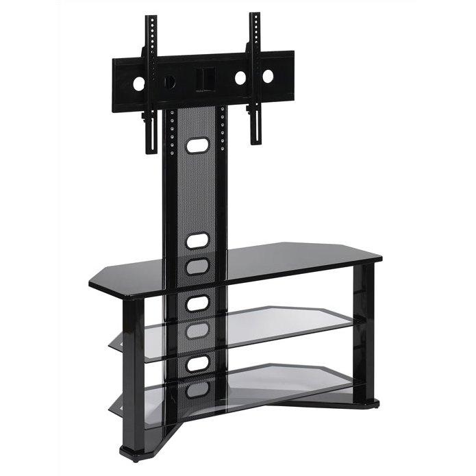 Brilliant Wellknown Swivel Black Glass TV Stands Inside 44 Swivel Black Glass Tv Stand (View 48 of 50)